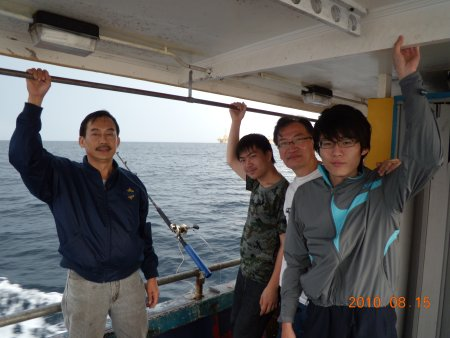 Singapore anglers fishing in Sabah