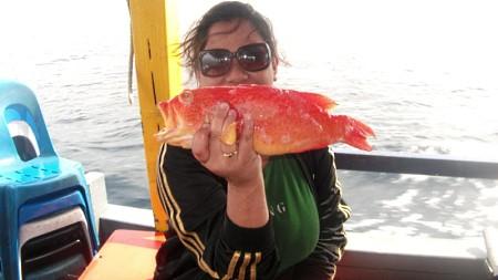 Female Angler in Sabah